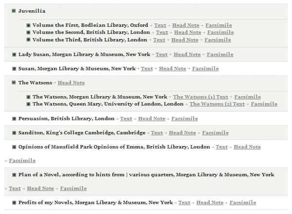 Manuscritos de Jane Austen