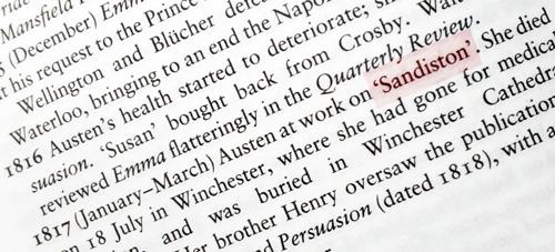Oh! pobre Sanditon…
