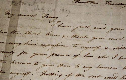Carta de Cassandra Austen para Fanny Knight