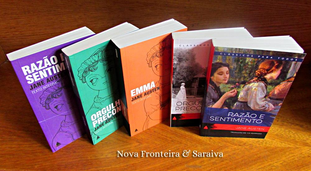 Livros Jane Austen da Nova Fronteira e Saraiva