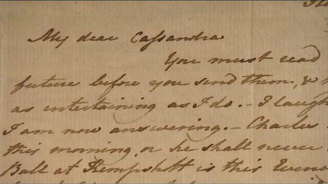 Para quem Jane Austen escrevia suas cartas?