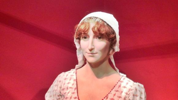 Jane Austen, figura em cera